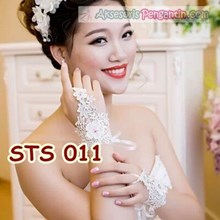 Modern l Bridal Gloves Fingerless Brocade short-ST
