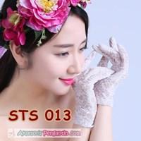 Jual Sarung Tangan Lace Pesta Pendek Pengantin l Aksesoris Wedding- STS 013
