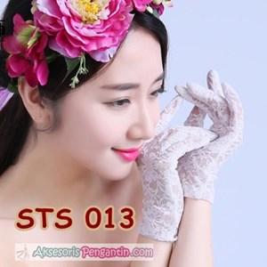 Sarung Tangan Lace Pesta Pendek Pengantin l Aksesoris Wedding- STS 013