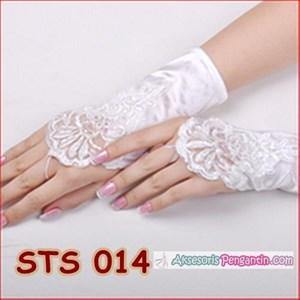 Sarung Tangan Pesta Brokat l Aksesoris Wedding Pengantin Wanita-STS014
