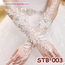 Sarung Tangan Wedding Lace Fingerless l Aksesoris Pengantin - STB 003