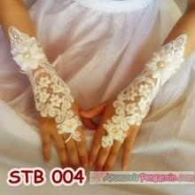 Sarung Tangan Pengantin Lace Full Payet - Aksesoris Wedding - STB 004