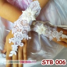 Sarung Tangan Wedding l Aksesoris Pengantin l Fingerless Lace- STB 006