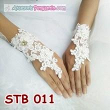 Sarung Tangan Fingerless Lace - Aksesoris Wedding Pengantin - STB 011