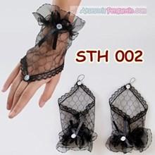 Sarung Tangan Wedding Hitam Fingerless l Aksesoris Pengantin - STH 002