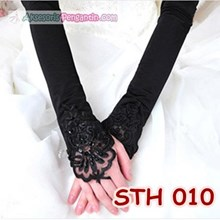 Sarung Tangan Pesta Hitam l Aksesoris Pengantin Wedding Gloves-STH 010