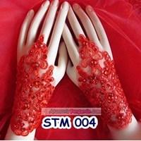 Jual Sarung Tangan Wedding l Aksesoris Wanita l Fingerless Pendek - STM 004