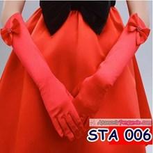 Sarung Tangan Pesta Anak Merah l Aksesoris Anak Perempuan - STA 006