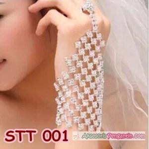 Hiasan Tangan Pengantin l Aksesoris Gelang Tangan Pesta Wanita-STT 001