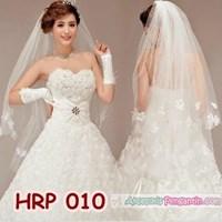 Jual Slayer Pengantin Modern l Aksesoris Kerudung Rambut Wedding - HRP 010