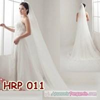 Jual Slayer Pengantin Wanita l Kerudung pesta l Aksesoris Wedding - HRP 011