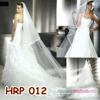 Slayer Pengantin Modern l Kerudung Wedding l Aksesoris Rambut - HRP 012