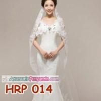 Jual Slayer Pengantin Lace Panjang l Kerudung Aksesoris Wedding - HRP 014