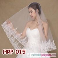 Jual Slayer Veil Pengantin Wanita Lace Full Payet l Aksesoris Wedding-HRP 015