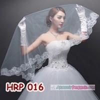 Jual Kerudung Veil Pengantin Lace Wanita l Slayer Wedding Modern - HRP 016