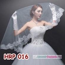 Kerudung Veil Pengantin Lace Wanita l Slayer Wedding Modern - HRP 016