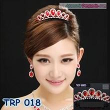 Tiara Rambut Wanita l mahkota pengantin l aksesoris rambut - TRP 018