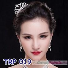 Aksesoris Mahkota Pengantin l Mahkota Rambut Pengantin Wanita- TRP 019