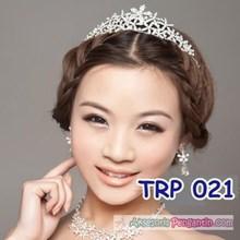 Aksesoris Tiara Pengantin l Mahkota Rambut pesta - TRP 021