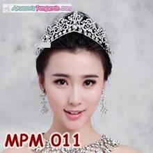Aksesoris Mahkota Rambut Pesta- Tiara Pengantin Crown Wedding- MPM 011