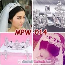 Aksesoris Mahkota Pesta Pengantin Wanita-Crown Rambut Wedding- MPW 014