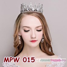 Mahkota Rambut Pesta Pengantin l Aksesoris Crown Round Wedding-MPW 015