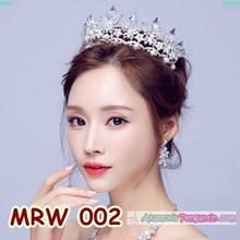 Aksesoris Crown Rambut Wedding - Mahkota Pesta Pengantin Wanita-MRW002