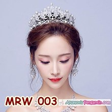 Aksesoris Mahkota Pengantin Wanita - Crown Tiara Rambut Wedding-MRW003