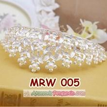 Aksesoris Mahkota Rambut Wedding l Crown Pesta Pengantin Modern-MRW005