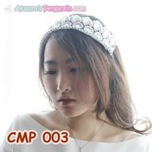Crown Mahkota Rambut Pengantin Modern l Aksesoris Wedding - CMP 003