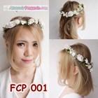 Flower Crown Putih Pesta Pengantin l Aksesoris Mahkota Bunga - FCP 001 2