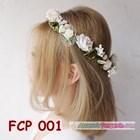 Flower Crown Putih Pesta Pengantin l Aksesoris Mahkota Bunga - FCP 001 3