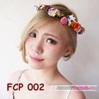 Rainbow Flower Crown Pesta Pengantin l Mahkota Bunga Wedding - FCP 002 1