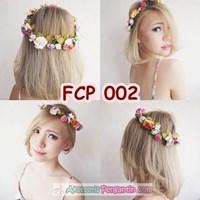 Rainbow Flower Crown Pesta Pengantin l Mahkota Bunga Wedding - FCP 002