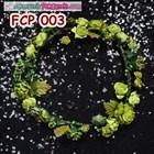 Flower Crown Green Pesta Pengantin l Aksesoris Mahkota Bunga- FCP 003 2