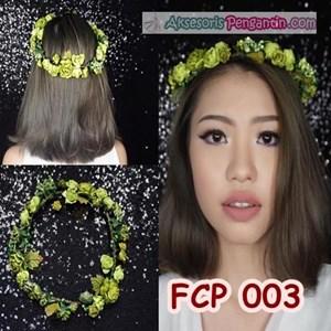 Flower Crown Green Pesta Pengantin l Aksesoris Mahkota Bunga- FCP 003