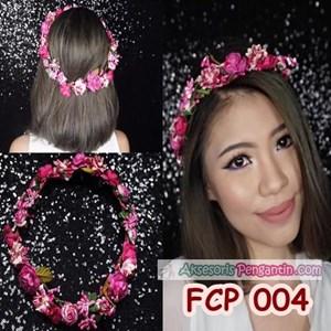Aksesoris Flower Crown Fanta Pesta Pengantin l Mahkota Bunga - FCP 004
