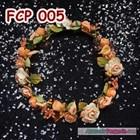 Aksesoris Flower Crown Pesta Peach l Mahkota Bunga Wedding - FCP 005 2