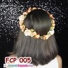 Aksesoris Flower Crown Pesta Peach l Mahkota Bunga Wedding - FCP 005 3