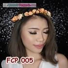 Aksesoris Flower Crown Pesta Peach l Mahkota Bunga Wedding - FCP 005 1