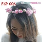 Aksesoris Flower Crown Pesta Soft Pink Pengantin-Mahkota Bunga- FCP006 2