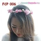 Aksesoris Flower Crown Pesta Soft Pink Pengantin-Mahkota Bunga- FCP006 3