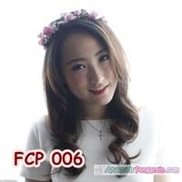 Aksesoris Flower Crown Pesta Soft Pink Pengantin-Mahkota Bunga- FCP006