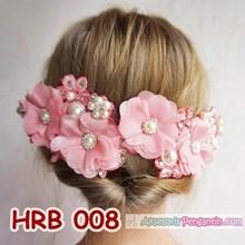 Headpiece Wedding l Aksesoris Rambut Pengantin Modern Pink - HRB 008