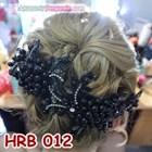 Aksesoris Hairpiece Pengantin l Headpiece Rambut Pesta Hitam - HRB 012 2