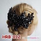 Aksesoris Hairpiece Pengantin l Headpiece Rambut Pesta Hitam - HRB 012 3