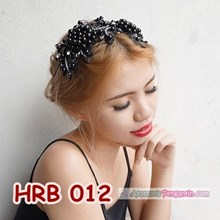 Aksesoris Hairpiece Pengantin l Headpiece Rambut Pesta Hitam - HRB 012