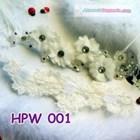 Headpiece Wedding Jilbab Pesta l Aksesoris Rambut Pengantin - HPW 001 1