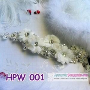Headpiece Wedding Jilbab Pesta l Aksesoris Rambut Pengantin - HPW 001