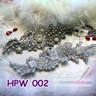Lace Wedding Headpiece l Aksesoris Rambut Pengantin Wanita - HPW 002 1